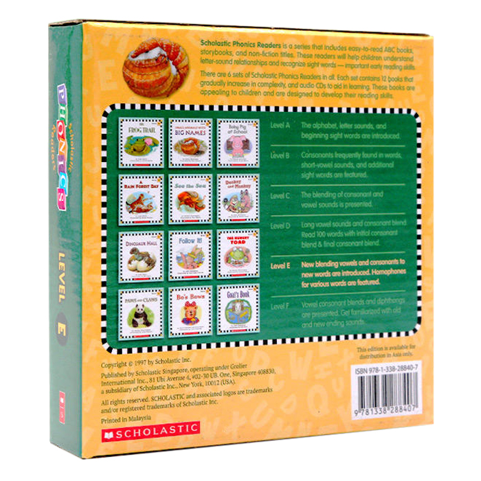Scholastic Phonics Readers E (With Cd)