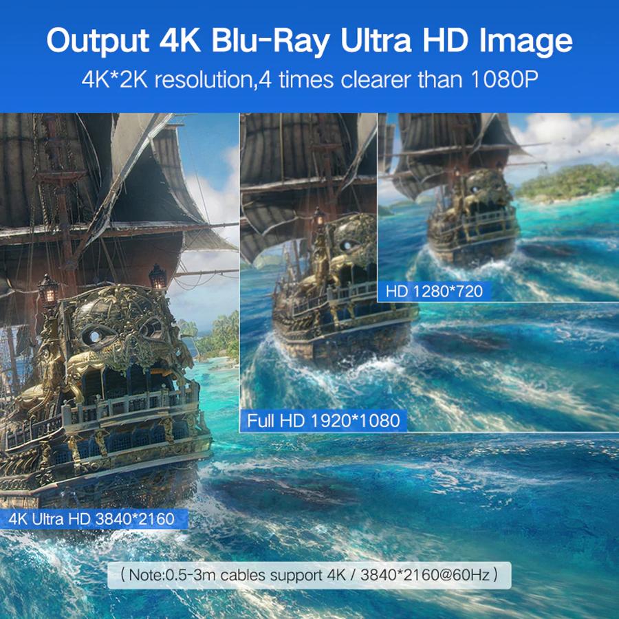 Cáp HDMI dài 2m Ugreen 10107 hỗ trợ HD, 2k, 4k - Hàng Chính Hãng