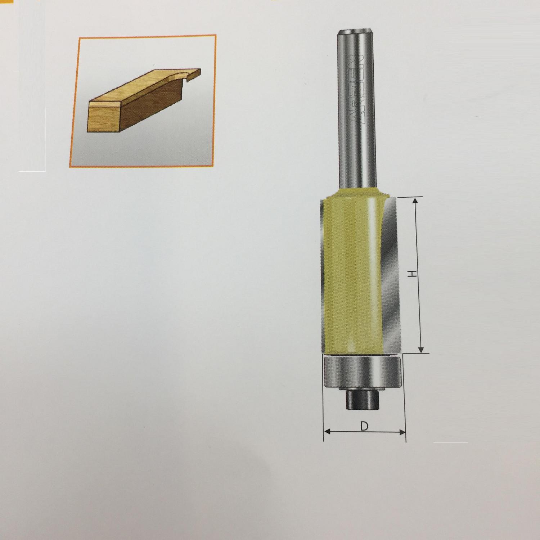 """Mũi tỉa cạnh thẳng ổ bi 1/2""""x1/4"""" (D=6.35mm) Arden"""