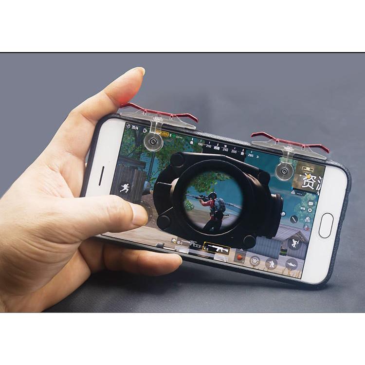 Bộ gamepad nút hỗ trợ chơi game PUBG Red Fish EH9 cho điện thoại máy tính bảng (Màu ngẫu nhiên) - Hàng nhập khẩu