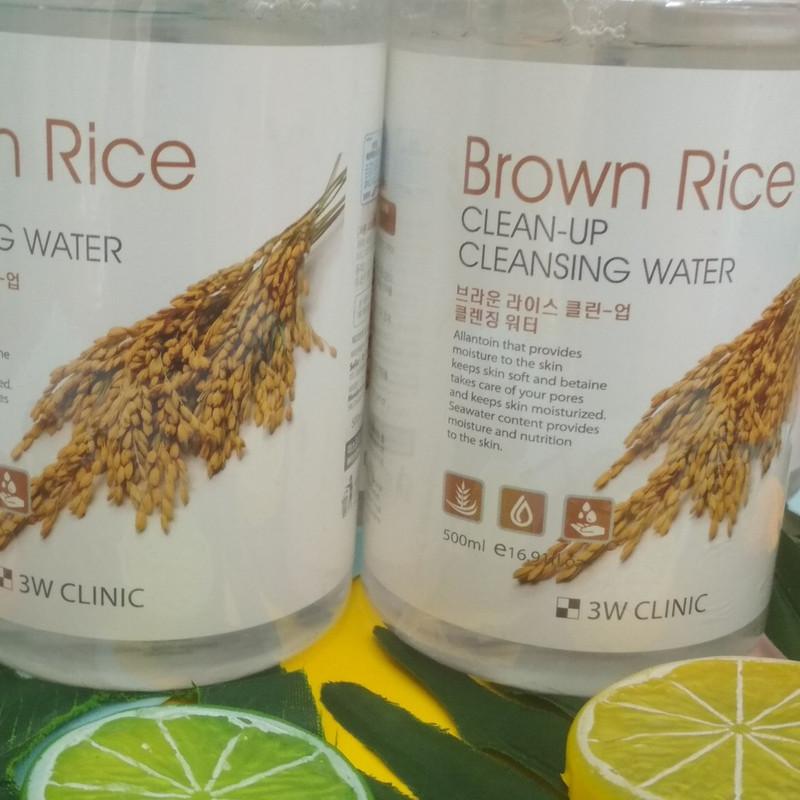 Nước tẩy trang tinh chất lúa mạch 3W CLINIC BROWN RICE CLEAN-UP CLEANSING WATER