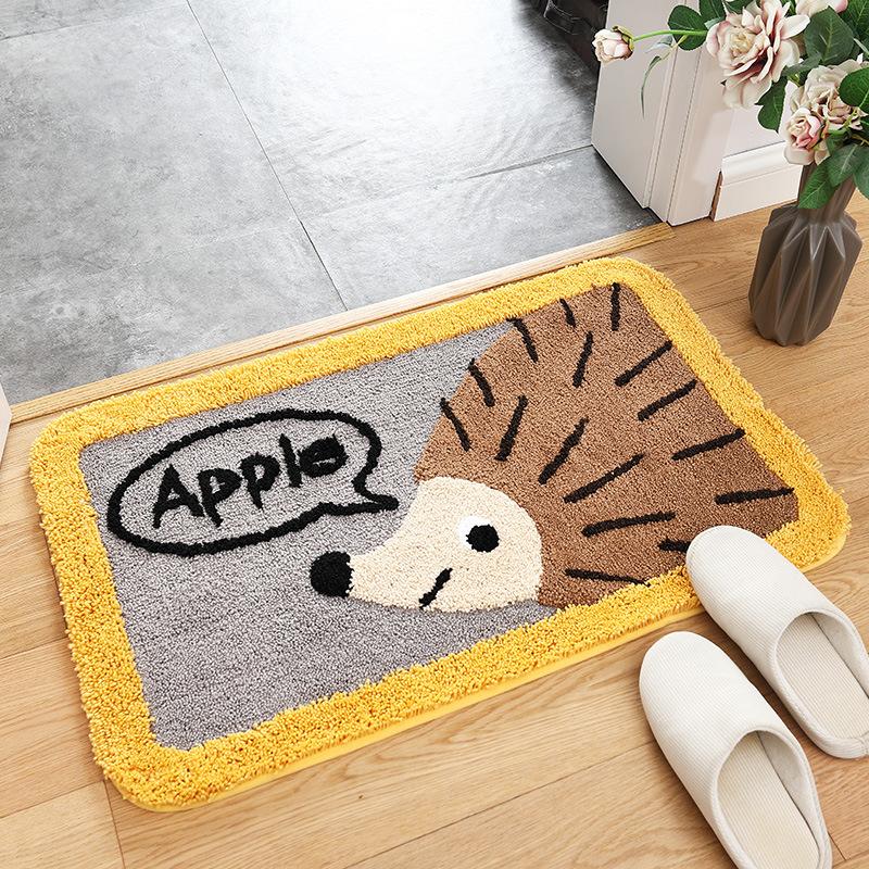 Thảm chùi chân hình thú cưng hoạt hình xinh xắn (lau chân) trải sàn phòng ngủ, trẻ em, bếp, khách - TLC082