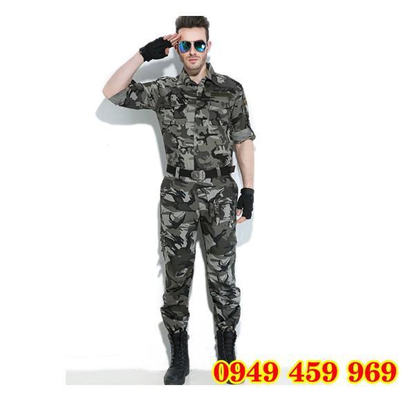 Quần Áo Lính - Bộ Quần Áo Lính Mỹ Rằn Ri Nhập Xịn Dài Tay