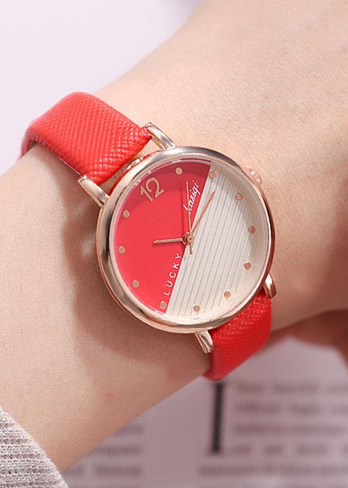 Đồng hồ dây da nữ  phong cách Hàn Quốc, tặng vòng đeo tay - Hàng nhập khẩu