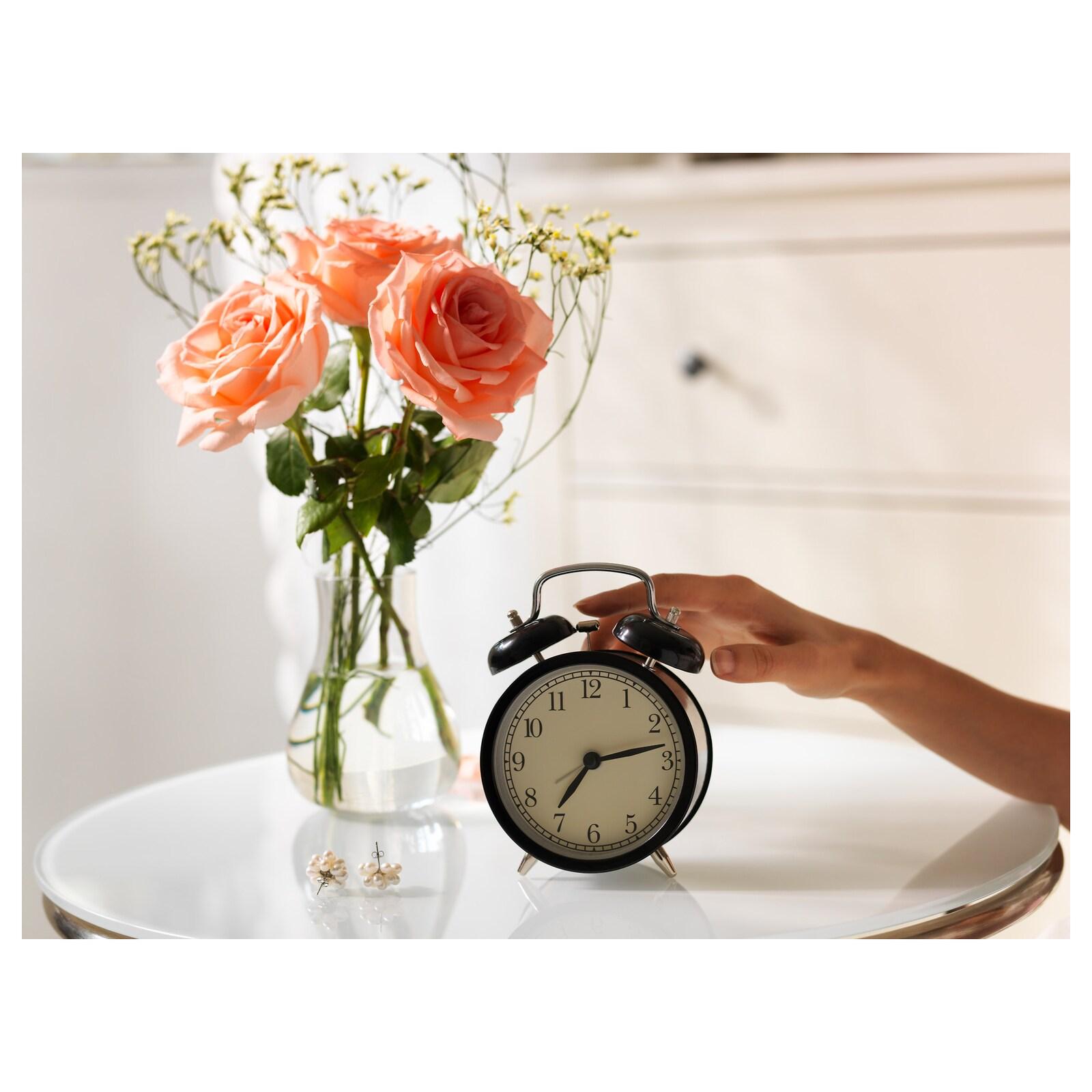 Đồng hồ báo thức màu đen - đồng hồ để bàn