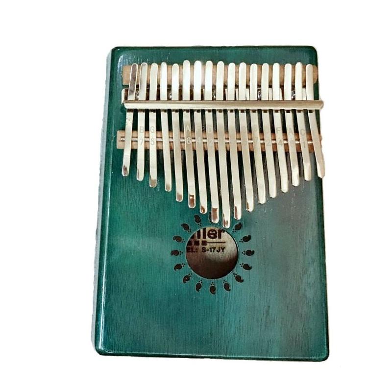 Đàn Kalimba 17 phím Gỗ Xanh Lá Trơn Tặng Kèm Khóa Học Miễn Phí