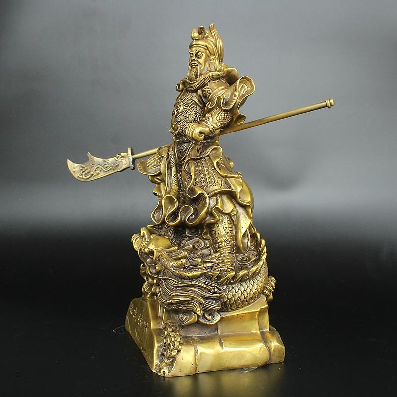 Tượng quan công Vân Trường bằng đồng thau phong thủy Hồng Thắng