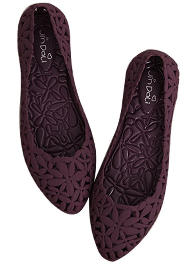 Giày nữ đế bệt đi mưa,chất liệu cao cấp - 9600300