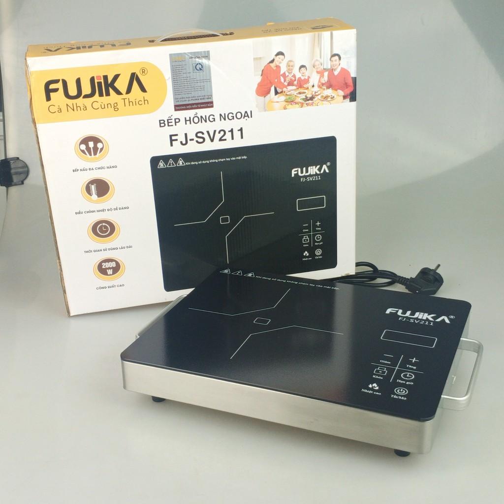 Bếp Hồng Ngoại 2000W Fujika FJ-SV211 không kén nồi chảo-kèm chảo chống dính sâu lòng-Hàng chính hãng