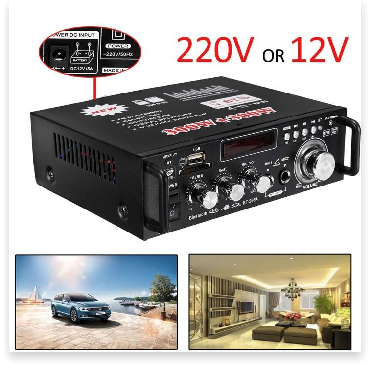 Amplifier Bluetooth FM Radio Car Home 600W   Ampli Mini Loa Amly Bluetooth BT309A 800W Âm thanh Cao Cấp