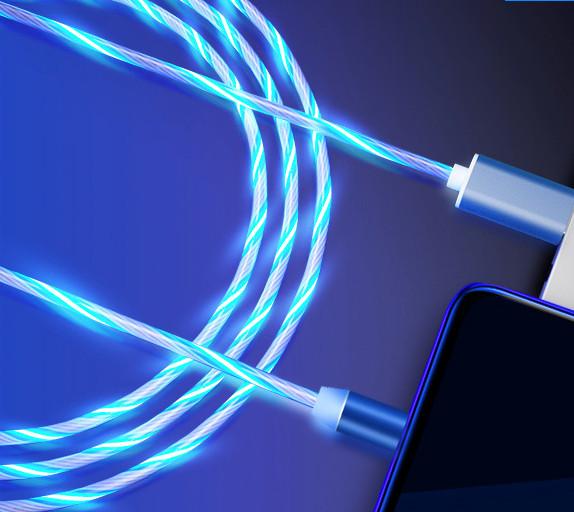 Cáp Sạc Nam Châm Chân Micro USB Có Đèn Led Hiện Dòng Điện Trên Dây