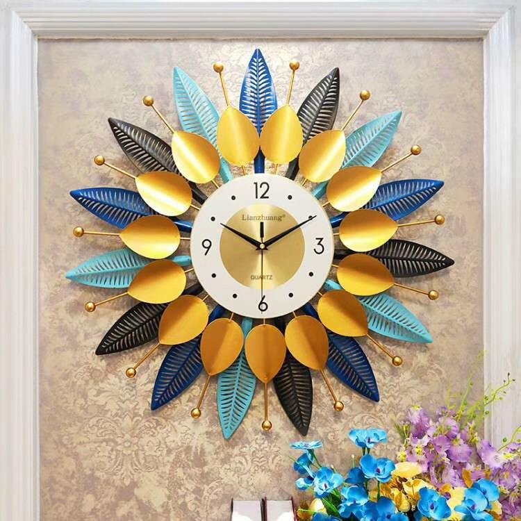 Đồng hồ trang trí nhà cửa hình hoa tròn xòe DH257