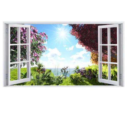 Tranh dán tường cửa sổ 3D T3DMN 115