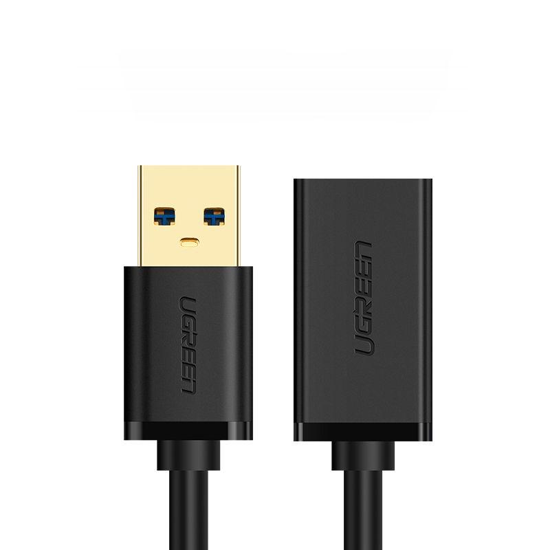 Dây nối dài USB 3.0 mạ vàng dài 2M UGREEN US115 10373 (đen) - Hàng Chính Hãng