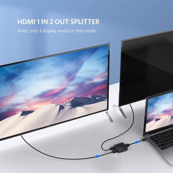 Bộ gộp-chia HDMI 2 chiều hỗ trợ 4K2K@30Hz hàng chính hãng Ugreen mã UG-50966