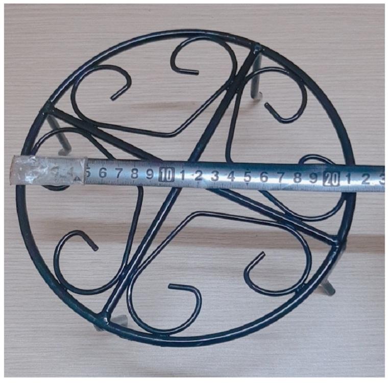 2 Kệ Sắt Đỡ Chậu Hoa Nhựa - ĐK 21.5cm, Cao 10.5cm