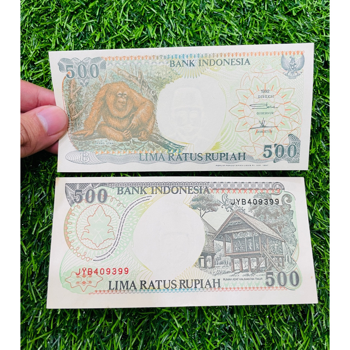 Tiền hình con khỉ Indonesia xưa, quà tặng người tuổi Thân, mới 100% UNC tặng túi nilon bảo quản