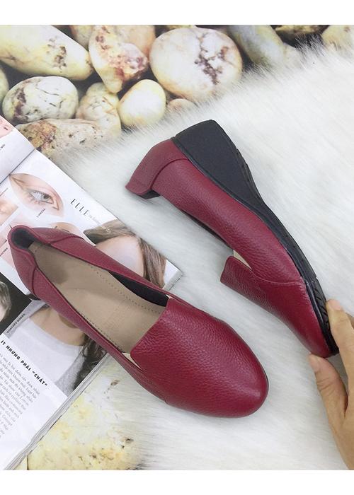 Giày cao gót đế xuồng cao 4 cm, da bò giày xinh MT22