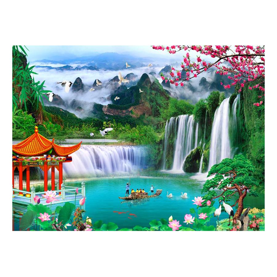 Tranh Dán Tường Sơn Thủy 3D ST0201
