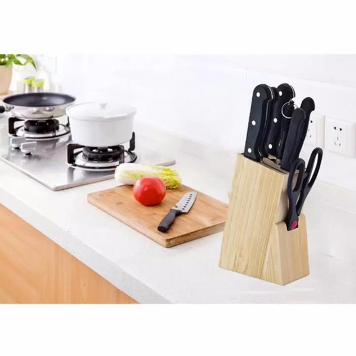 Bộ dao kéo nhà bếp 7 món thép không rỉ tặng kèm bộ 10 bao lì xì