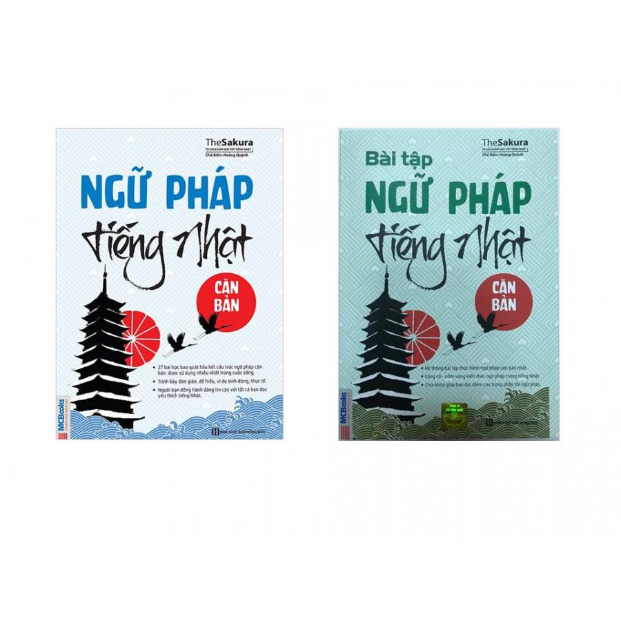 Combo Ngữ Pháp Tiếng Nhật Căn Bản và Bài Tập Ngữ Pháp Tiếng Nhật Căn Bản ( tái bản )( tặng Kèm Bút Chì Dễ Thương )