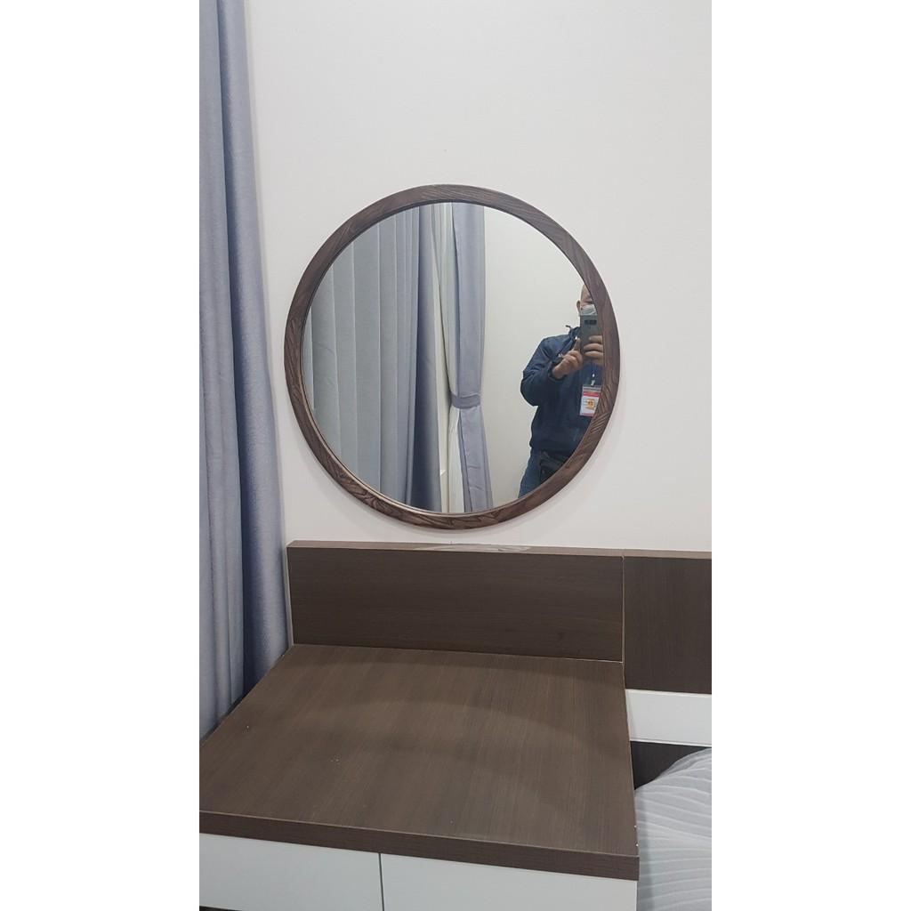 GƯƠNG TRÒN VIỀN GỖ – TR-04