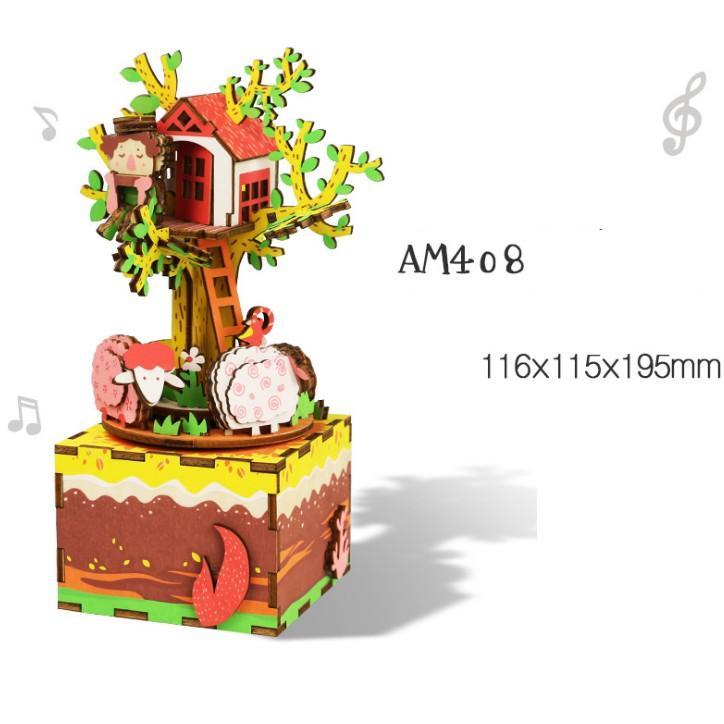Đồ chơi lắp ráp gỗ 3D Mô hình Hộp nhạc Music Box AM41-AM45