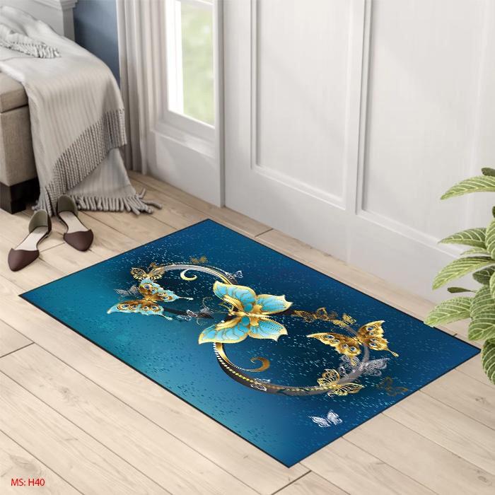 combo 3 tấm thảm lau chân, thảm chùi chân Bali in 3d chống trơn trượt dùng cho Nhà Tắm, Cửa ra vào, Nhà Bếp Giá Rẻ ( 3 màu khác nhau ngẫu nhiên)