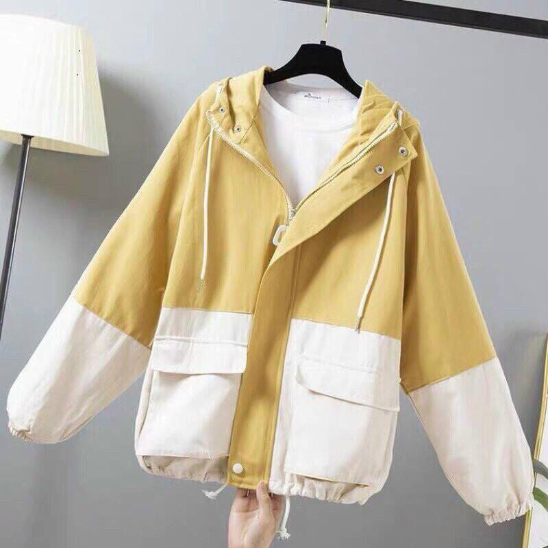 Áo khoác dù nam nữ phối line màu phong cách bụi