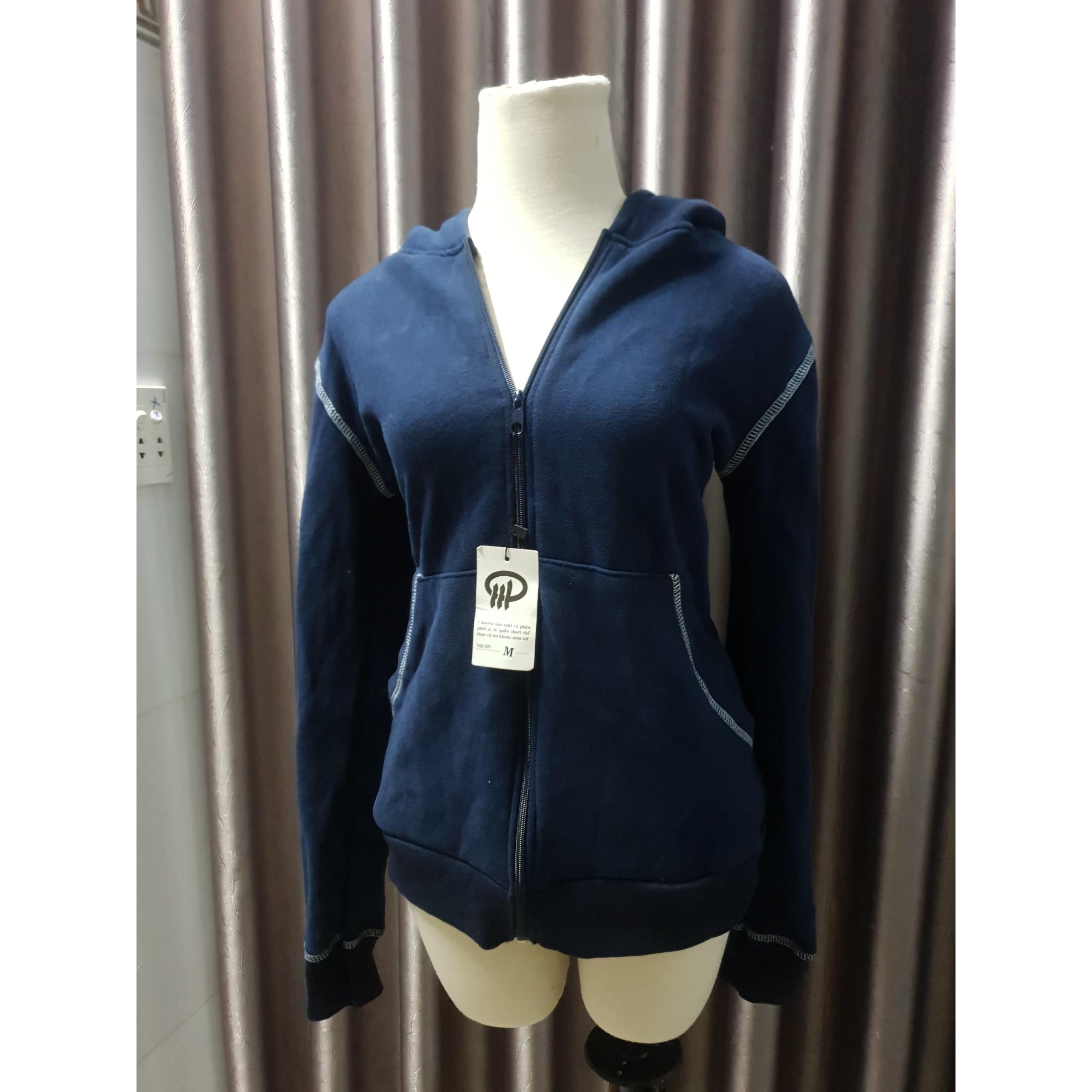 Áo khoác nữ chống nắng màu xanh đen