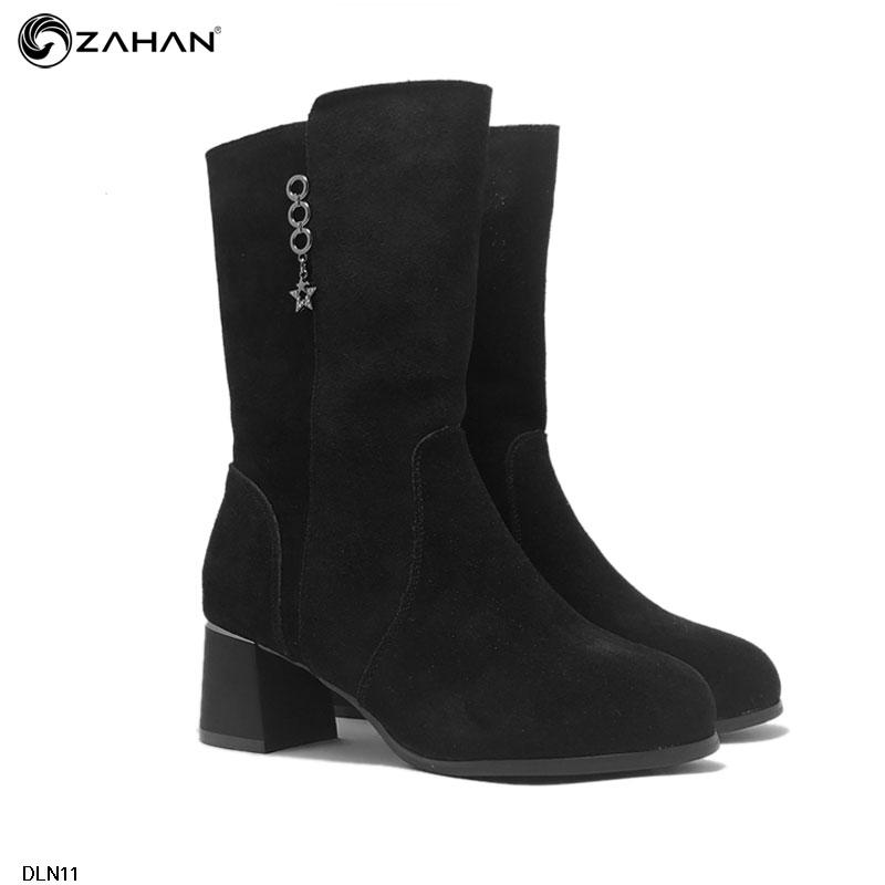 Boots cổ lửng, da lộn, 5 cm, BOOTS5522