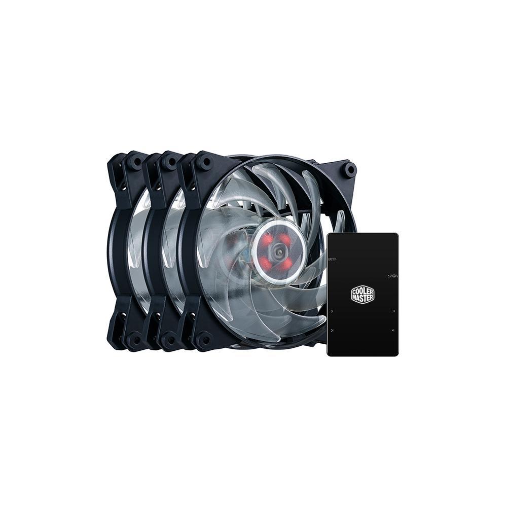 Quạt tản nhiệt MasterFan Pro 120 Air Balance RGB 3 trong 1 với LED Controller - Hàng Chính Hãng