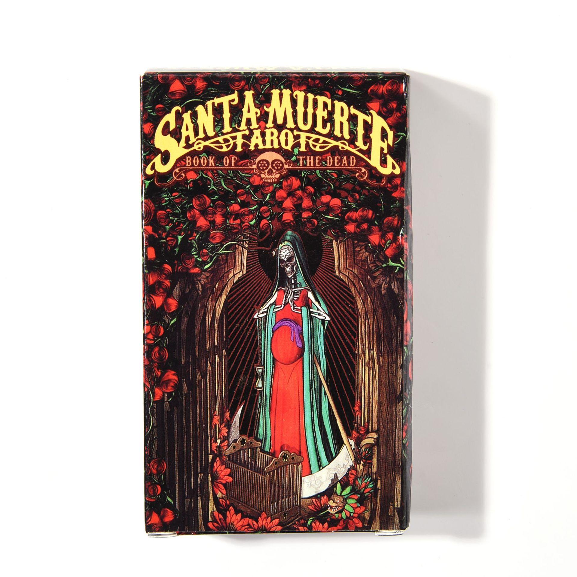 Combo Bộ Bài Bói Tarot Santa Muerte Tarot Cao Cấp và Túi Nhung Đựng Tarot và Khăn Trải Bàn Tarot