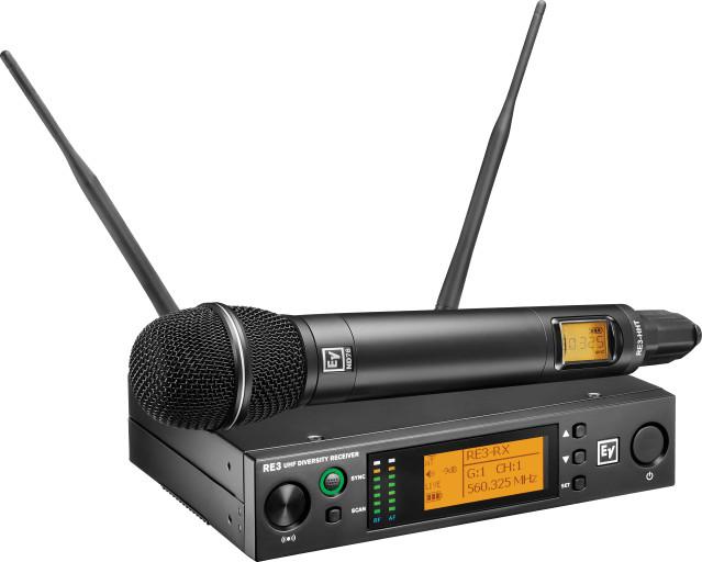Handheld set with RE520 head 560-596MHz Electrovoice (USA/Taiwan) - Hàng chính hãng