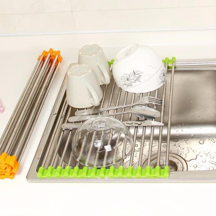 Kệ inox kê bồn rửa chén (37 x 24 cm)