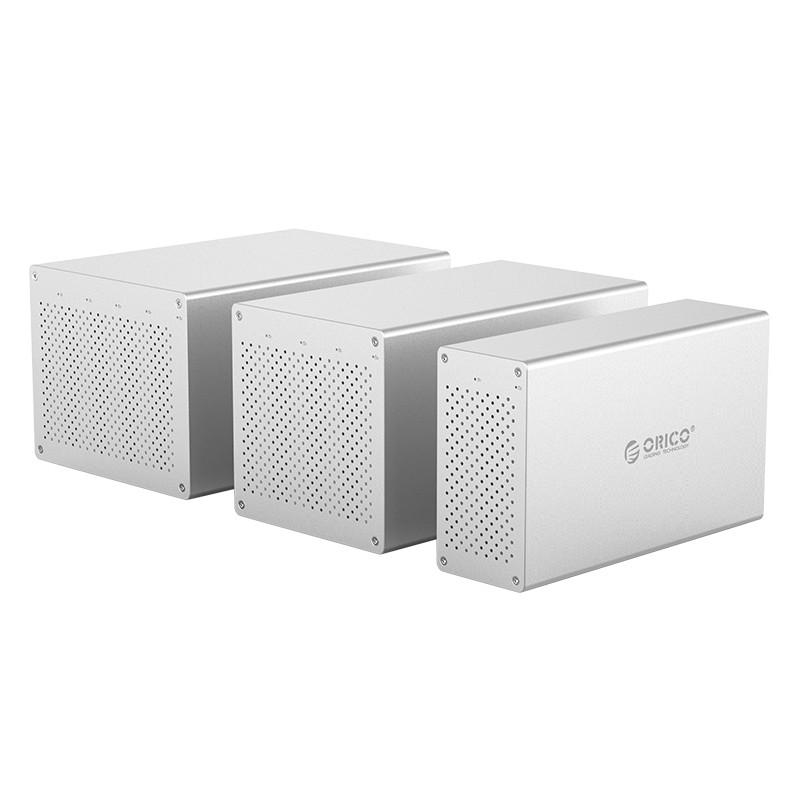 Hộp Đựng Ổ Cứng HDD 2 Khay Orico 3.5'' USB 3.0 WS200RU3-EU-SV - Bạc - Hàng Chính Hãng