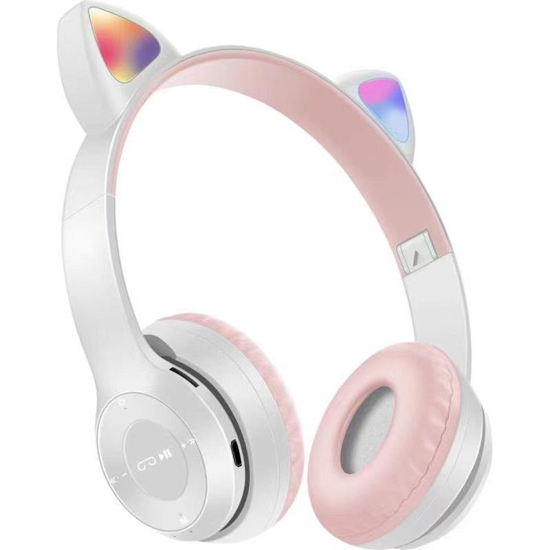Tai Nghe Mèo Bluetooth LANITH - Headphone Chụp Tai Không Dây Dễ Thương - Hỗ Trợ Điều Chỉnh Các Chế Độ, Có Đèn LED - Nhiều Màu - Tặng Kèm Cáp Sạc 3 Đầu - Hàng Nhập Khẩu - HP000028