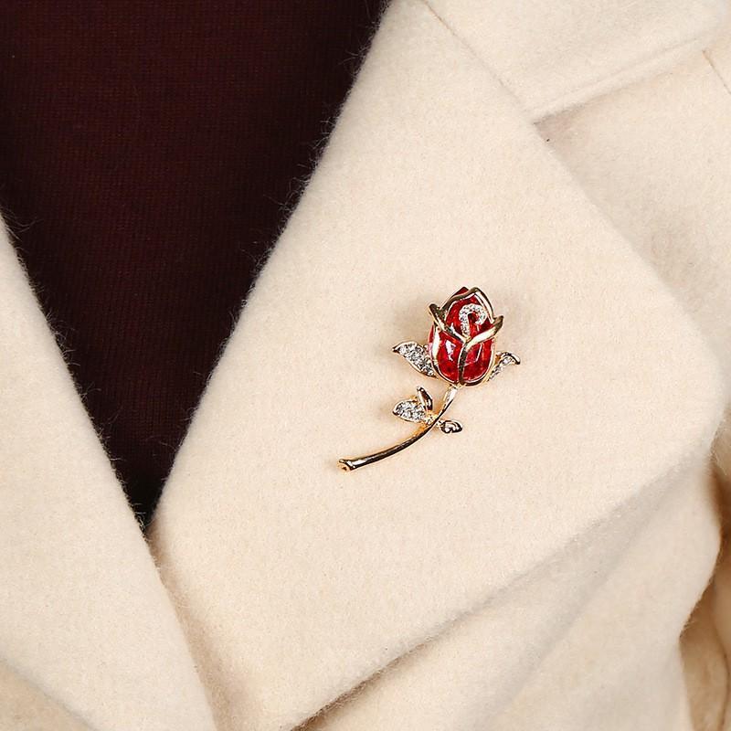 Phụ Kiện Cài Áo Hoa Hồng Đỏ Tạo Cá Tính Riêng Cho Bạn Trở Nên Quyến Rũ Hơn Trong Mắt Bạn Khác Giới - Cài Áo CA52