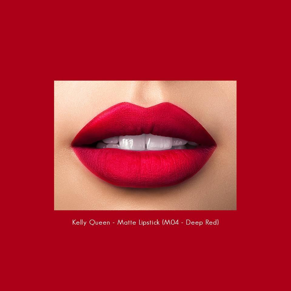 Son kem lì Kelly Queen matte lipstick M04