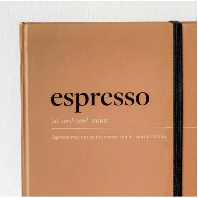 Sổ Tay Kế Hoạch Crabit - Coffeeine Espresso - 180 Trang (145 x 208mm)