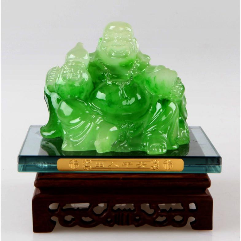 Nước hoa ô tô Phật Di Lặc Ngọc bích