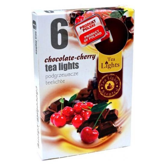 Hộp 6 nến thơm tinh dầu Tealight Admit Chocolate Cherry QT026085 - sôcôla, anh đào