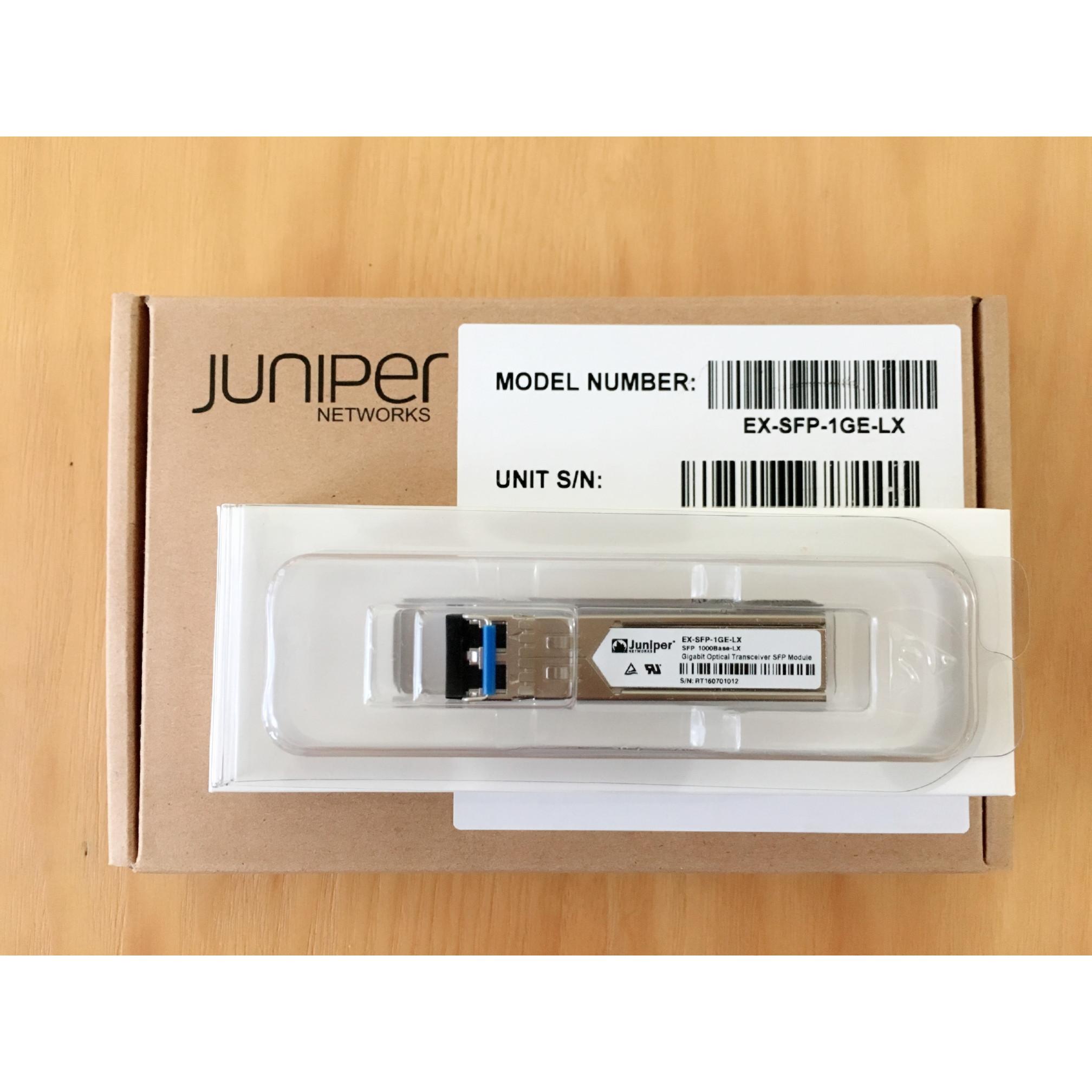 Module quang Juniper EX-SFP-1GE-LX SFP 1000Base-LX 1310nm 10km SMF - Hàng nhập khẩu