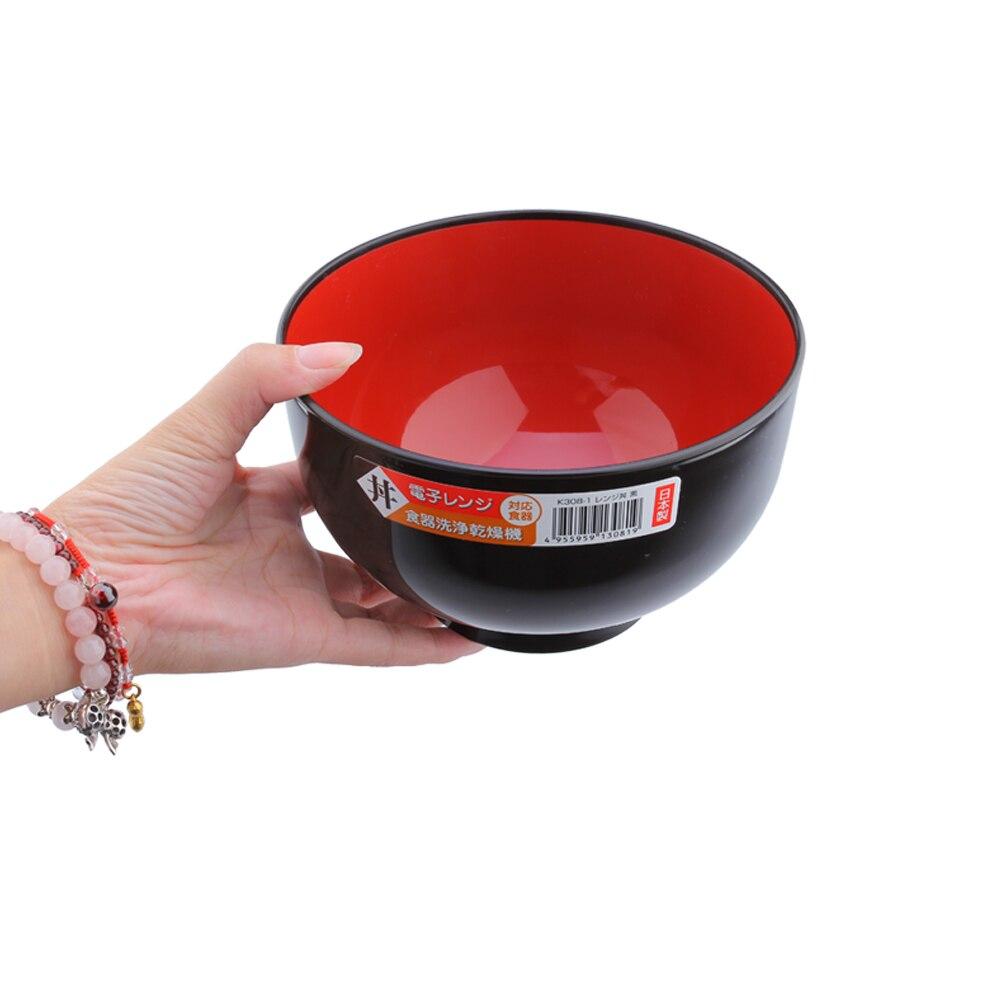 Combo 01 Bát tô Nakaya 1,25 lít (Màu đen lòng đỏ) + 01 Muôi xới cơm chống dính Nakaya cán màu (Giao màu ngẫu nhiên) - Nội địa Nhật