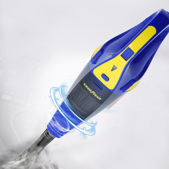 Máy hút bụi cầm tay không dây khô và ướt thương hiệu cao cấp Goodyear GY-2897 - Công suất: 75W - Dung lượng pin: 2400mAh - Lực hút chân không: 3000(mbar) - Hàng Nhập Khẩu