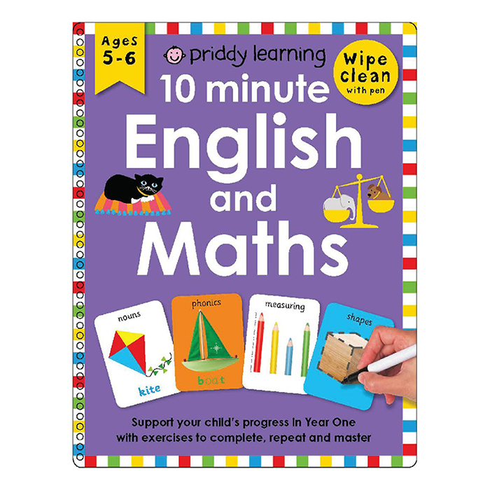 Priddy Learning 10 Minute English and Maths Wipe Clean (Ages 5+)