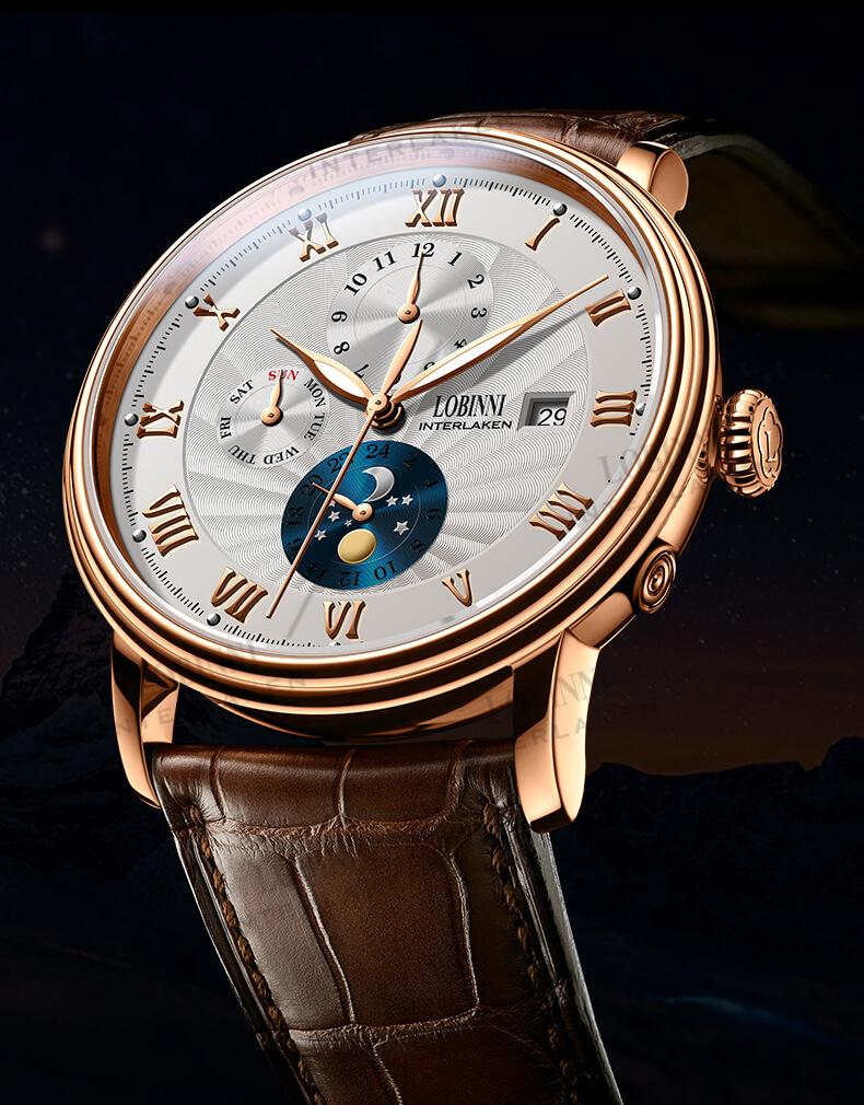 Đồng hồ nam chính hãng LOBINNI Ref.1023-1 (Phiên bản đặc biệt Limited)