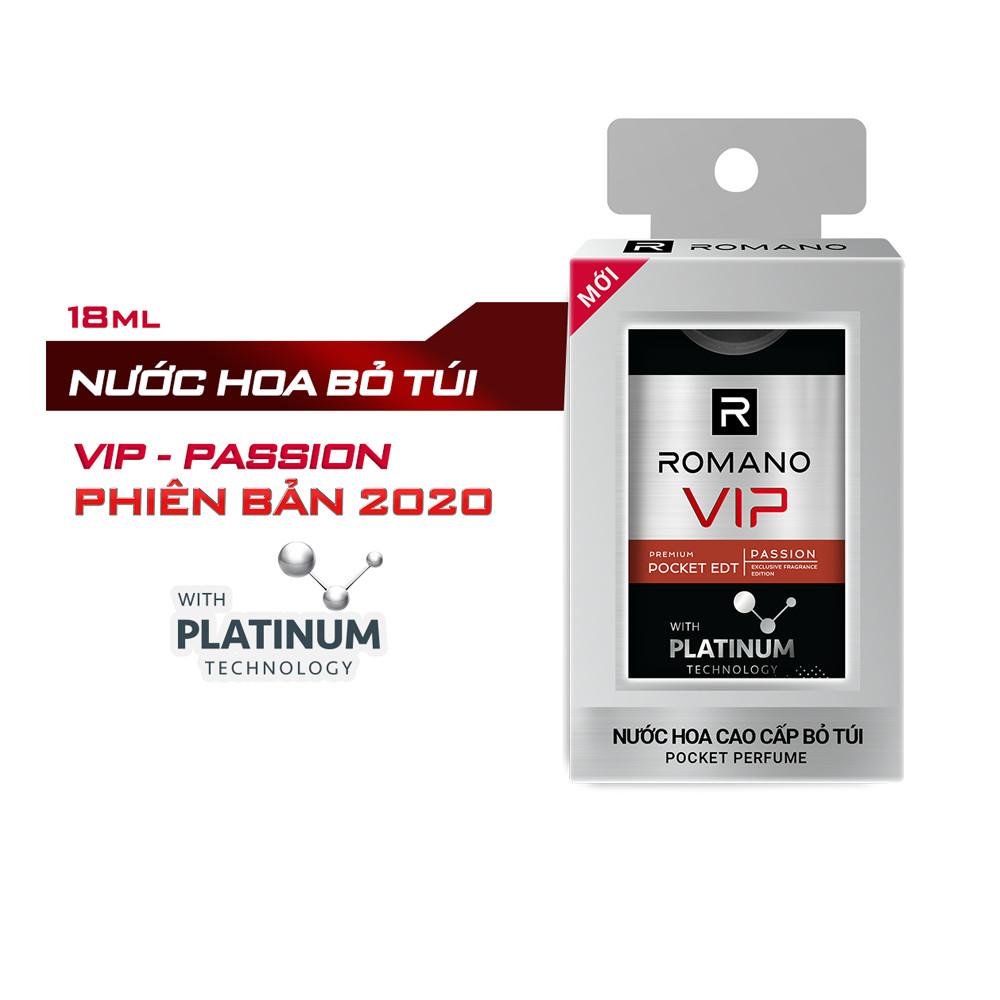 Bộ Romano Vip Passion: Lăn Ngăn Mùi 50ml và Nước Hoa bỏ túi 18ml