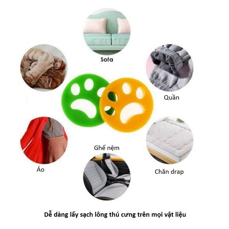 Phao Lấy Lông Chó Mèo Trong Máy Giặt Tiện Dụng, Chất Liệu Silicon An Toàn Cho Quần Áo, Màu Sắc Xanh Lá Cây Và Cam – Giao Màu Ngẫu Nhiên – SP000487