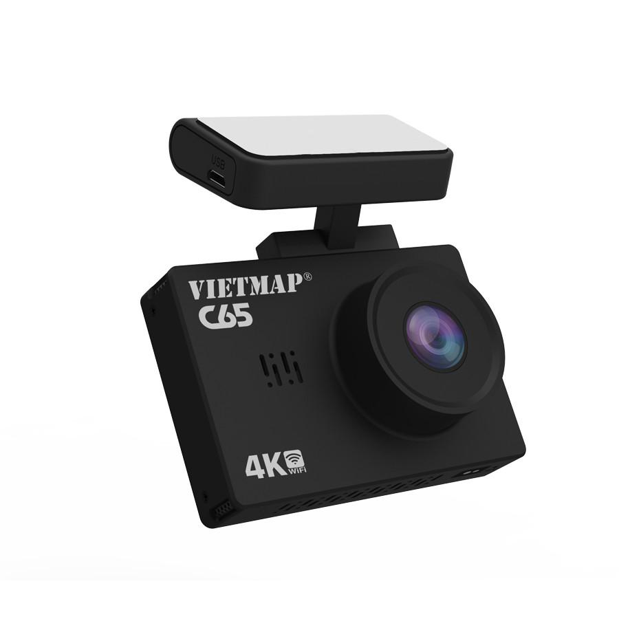 Camera Hành Trình xe Ô tô VIETMAP C65 Ghi Hình Trước và Sau xe + Cảnh báo bằng giọng nói + Wifi + Thẻ nhớ 32GB - Hàng Chính Hãng